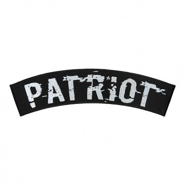 Patriot Black & White Embroidered Sew On Rocker Patch