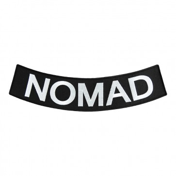 Iron On Nomad Black & White Embroidered Rocker Patch