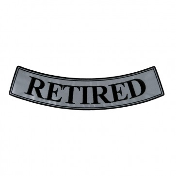 Embroidered Retired Reflective Bottom Rocker Patch