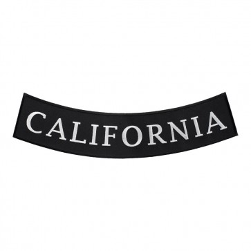 Curved California State Bottom Rocker Patch
