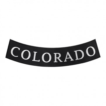 Colorado State Embroidered Bottom Rocker Emblem
