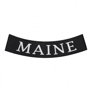 Embroidered Maine State Bottom Rocker Patch