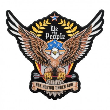 We The People One Nation Brown Eagle Patch