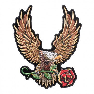 Sunkist Golden Eagle & Rose Sew On Patch