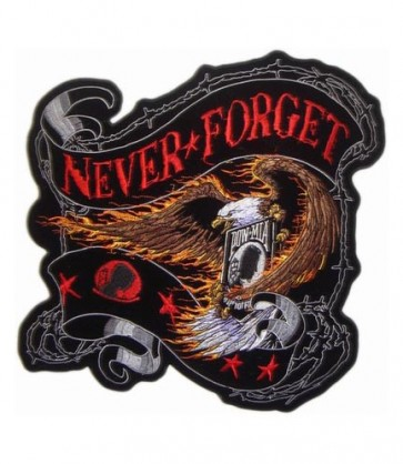 Embroidered POW MIA Never Forget Eagle Patch