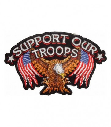 Support Our Troops Eagle US Flag Patch, Eagle Patches