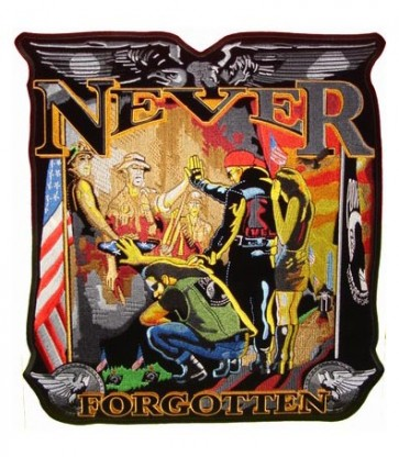 Never Forgotten Soldier Vietnam Wall Patch, Military Patches