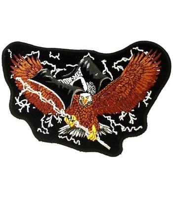 POW MIA Eagle & Lightning Patch, Military Patches