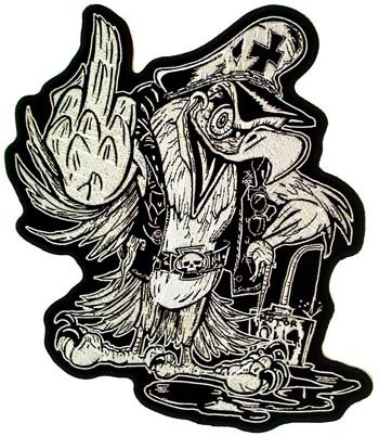 Middle Finger Eagle Patch, Vulgar & Funny Patches