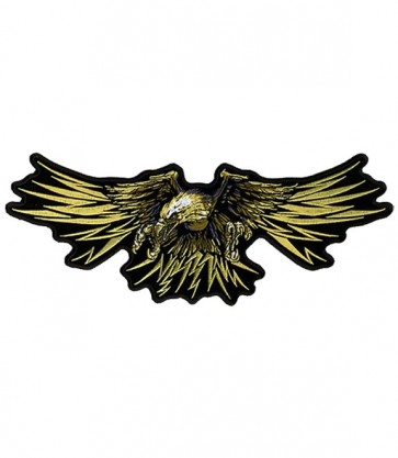 Golden Tribal Winged Eagle Patch, Eagle Patches