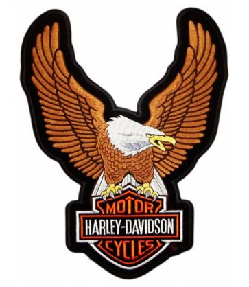 Harley Davidson Upwing Eagle Brown Embroidered Patch
