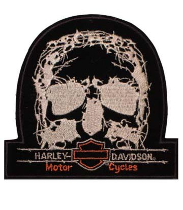 Embroidered Harley Davidson TNT Skull Official Sew On Patch