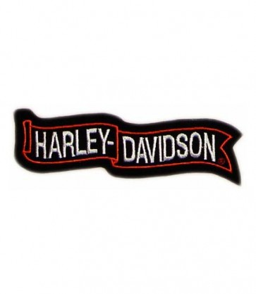 Embroidered Harley Davidson Waving Banner Sew On Patch