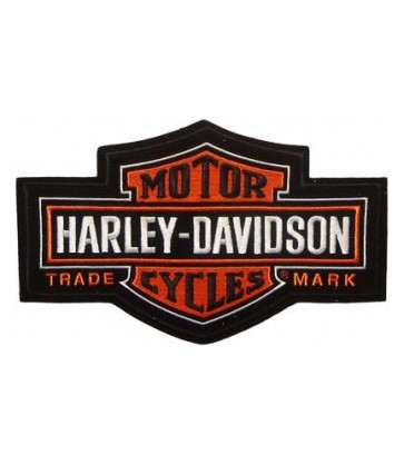 Embroidered Harley Davidson Long Bar & Shield Patch