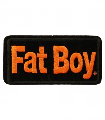 Sew On Harley Davidson Fat Boy Embroidered Motorcycle Patch