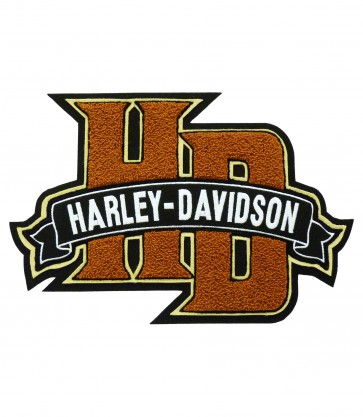 Harley Davidson Chenille Embroidered H-D Monogram Patch