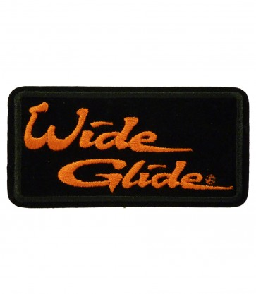 Sew On Harley Davidson Wide Glide Embroidered Motorcycle Patch