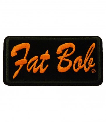 Harley Davidson Fat Bob Embroidered Motorcycle Patch