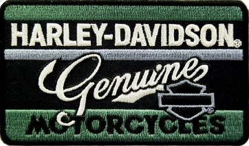 Harley Davidson Genuine Motorcycle Patches Green Script
