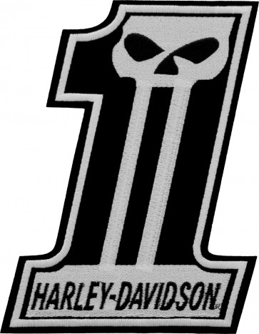 Large Size Embroidered Harley Davidson Willie G Skull #1 Patch