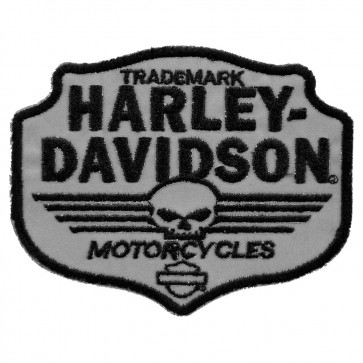 Sew On Harley Davidson Skull Chevron Embroidered Motorcycle Patch