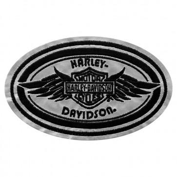Harley Davidson Superstar Reflective Oval Embroidered Patch