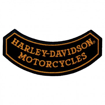 Embroidered Harley Davidson On The Rocks Bottom Rocker Patch