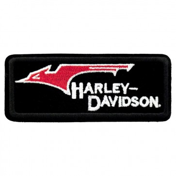 Embroidered Harley Davidson Throwback Motorcycle Patch