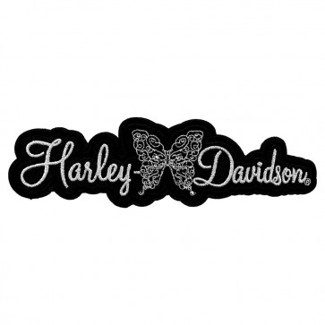 Metallic Embroidered Harley Davidson Flutter Rhinestones Patch
