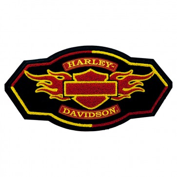 Harley Davidson Flame Chenille Embroidered Motorcycle Patch