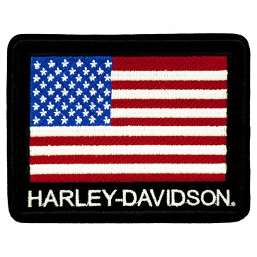 Patriotic Sew On Harley Davidson American Flag H-D Patch