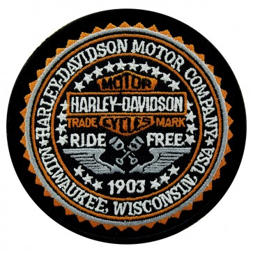 Embroidered Harley Davidson Governed Motorcycle Patch