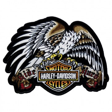 Embroidered Harley Davidson Tattoo Eagle Patch