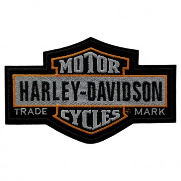 Large Size Embroidered Harley Nostalgic Long Bar & Shield Patch