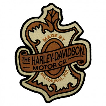Sew On Harley Davidson Oak Leaf Milwaukee Woven Patch