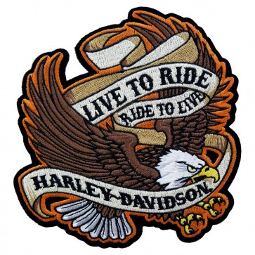 Embroidered Harley Davidson Live To Ride Eagle Patch