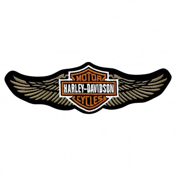 Harley Davidson Tan Straight Wing Embroidered Patch