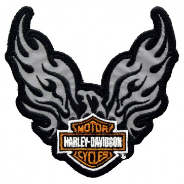 Sew On Harley Davidson Phoenix Bar & Shield Reflective Patch