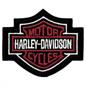 Harley Davidson Red Bar & Shield Embroidered Patch