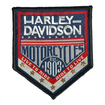 Patriotic Harley Davidson Republic Woven Patch