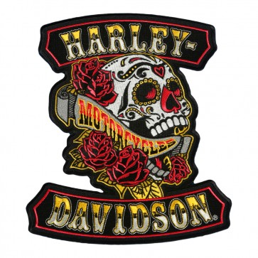 Embroidered Harley Davidson Sugar Rockers Skull Patch
