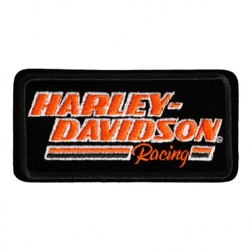 Embroidered Harley Davidson H-D Racing Motorcycle Patch