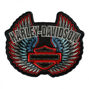 Sew On Harley Davidson Studded Rebel Spirit Patch