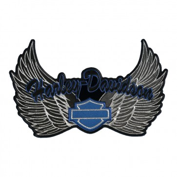 Metallic Harley Davidson Harley Wings B&S Patch