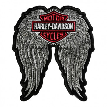 Embroidered Harley Davidson Studded Winged Bar & Shield Patch
