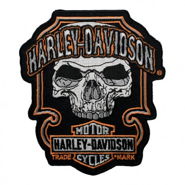 Harley Davidson Dark Skull Trademark B&S Embroidered Patch