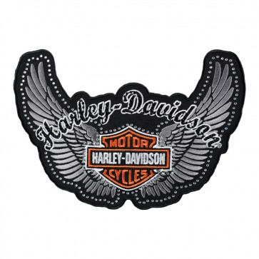 Harley Davidson Studded Pure Glamour Bar & Shield Wings Patch