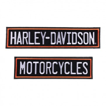 Harley Davidson Embroidered Rockers Patch Set