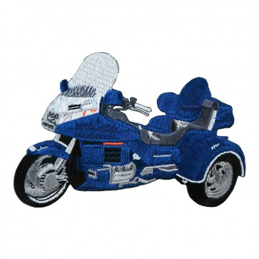 Embroidered Honda Goldwing GL1500 White Trike Iron On Patch