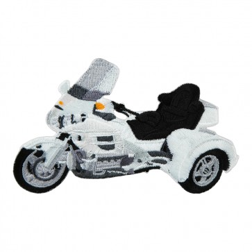 Embroidered Honda Goldwing GL1800 White Trike Iron On Motorcycle Patch
